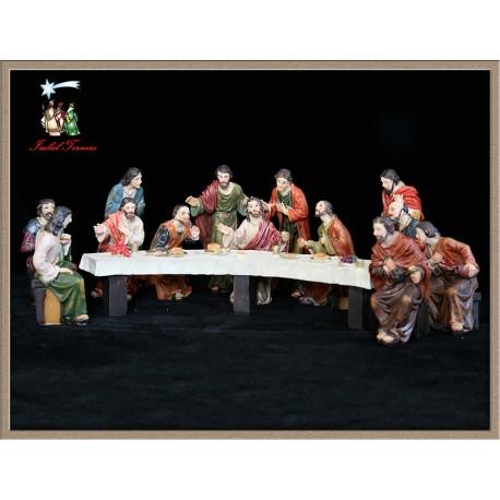 Santa Cena fabricada en resina, Medidas: 9 cm.
