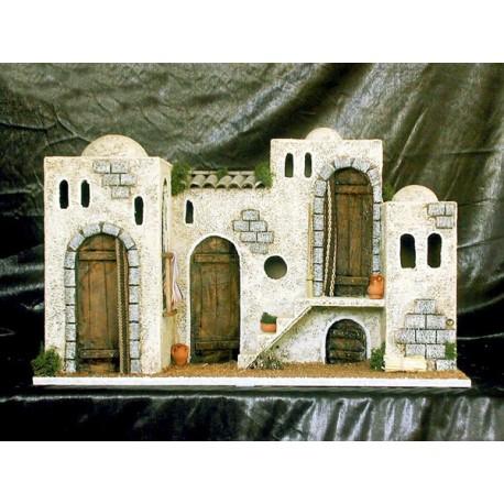 Caserío formado por varias casitas adosadas.